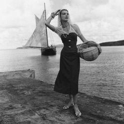 © 1948 Fritz Henle - Catherine Cassidy w/ Caribbean Schooner, St. Croix, USVI