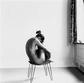 © 1954 Fritz Henle - Nude, Study on Metal Chair, St. Croix, USVI